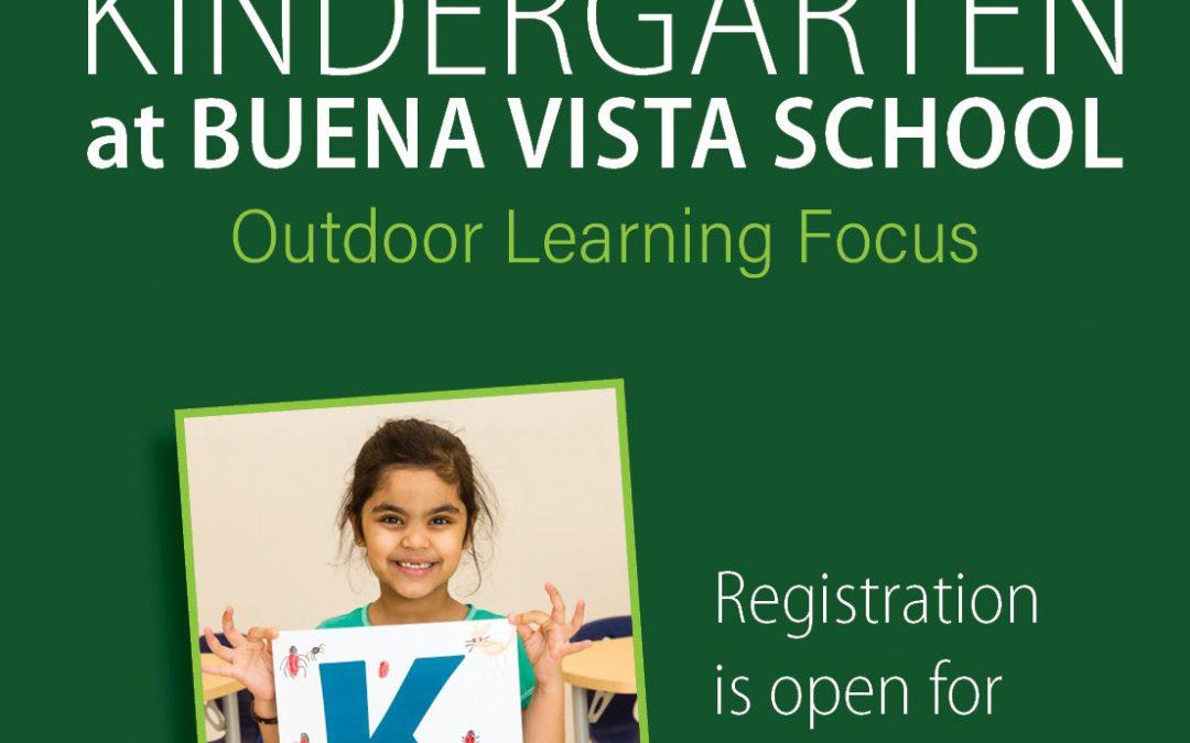 Kindergarten at Buena Vista School  – Outdoor Learning Focus