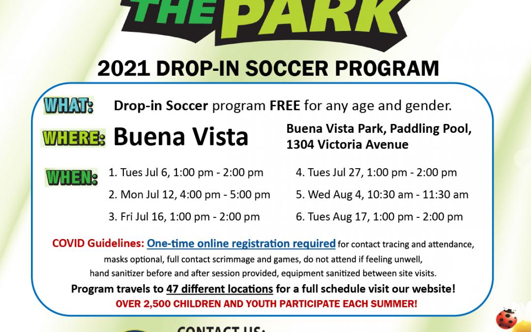 Kids in the Park Free Drop-In Soccer Program